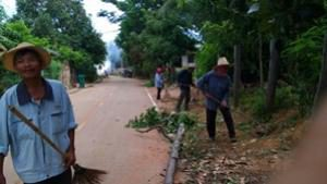 โครงการชุมชนสะอาด ปลอดโรค หมู่ที่ 1 ประจำปีงบประมาณ 2559 กองทุนหลักประกันสุขภาพระดับท้องถิ่น เทศบาลตำบลจระเข้หิน