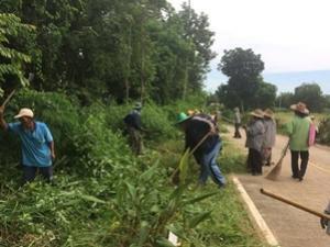 โครงการชุมชนสะอาด ปลอดโรค หมู่ที่ 4 ประจำปีงบประมาณ 2559 กองทุนหลักประกันสุขภาพระดับท้องถิ่น เทศบาลตำบลจระเข้หิน