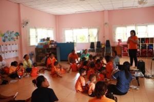 โครงการเฝ้าระวังป้องกันควบคุมโรคติดต่อภายในศูนย์เด็กเล็กบ้านไผ่ ประจาปีงบประมาณ 2559 กองทุนหลักประกันสุขภาพระดับท้องถิ่น เทศบาลตาบลจระเข้หิน