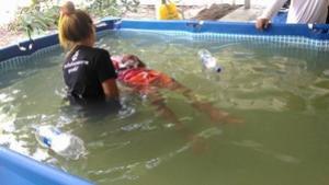 กิจกรรมโครงการเด็กไทย ปลอดภัย ไม่จมน้ำ วันที่ 9 – 10 มิถุนายน 2560 ณ.โรงเรียนชุมชนจระเข้หิน อ.ครบุรี จ.นครราชสีมา