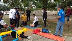 โครงการเพิ่มทักษะและทบทวนควมารู้การช่วยเหลือผู้ป่วยอุบัติเหตุฉุกเฉินสำหรับหน่วยกู้ชีพและประชาชน